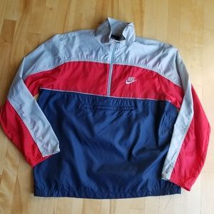 Vintage 80s Nike Color Block Windbreaker Large